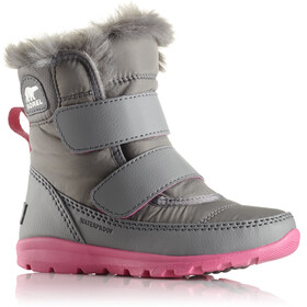 Sorel Toddlers Whitney Short Velcro Boots Quarry/Ultra Pink